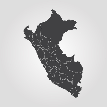 Map of Peru. Vector illustration. World map Ilustrace