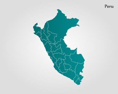 Map of Peru. Vector illustration. World map Illustration