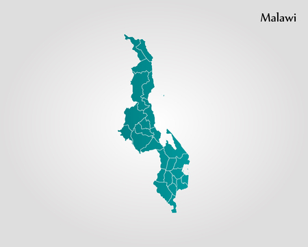 Map of Malawi. Vector illustration. World map