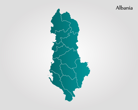 map of Albania illustration.The size of the original.