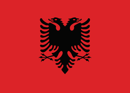 Flag of Albania vector.The size of the original  イラスト・ベクター素材