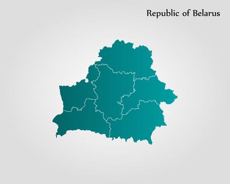 Map of Belarus. Vector illustration. World map