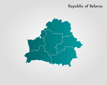 Map of Belarus. Vector illustration. World map
