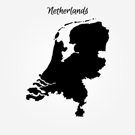Map Kingdom of the Netherlands. Vector illustration. World map.