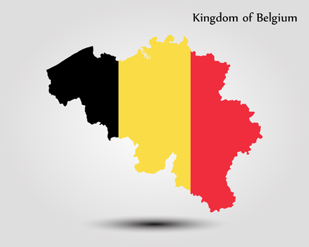 Map of Belgium. Vector illustration. World map