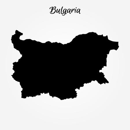 Map of Bulgaria. Vector illustration. World map Illustration