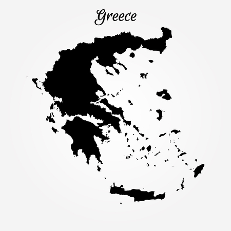 Map of Greece. Vector illustration. World map