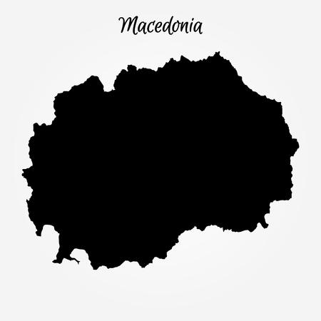 Map of Macedonia. Vector illustration. World map