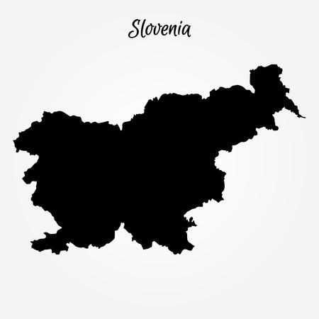 Map of Slovenia Vector illustration for world map