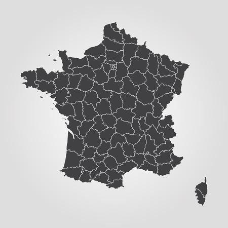 Map of France. Vector illustration. World map Illustration