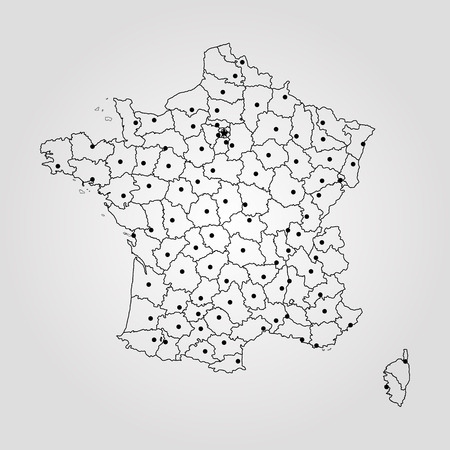 Map of France. Vector illustration. World map.