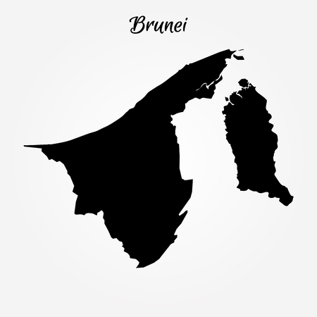 Map of Brunei. Vector illustration. World map Ilustrace