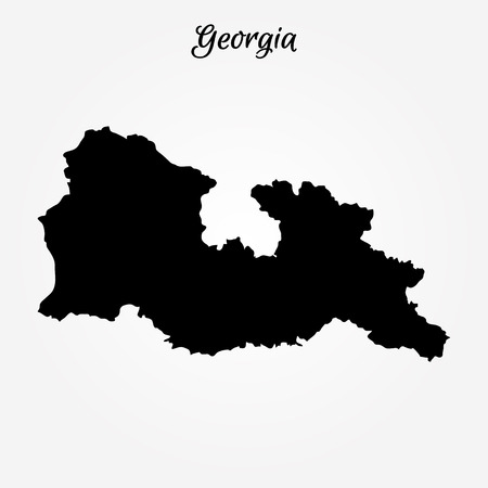 Map of Georgia. Vector illustration. World map