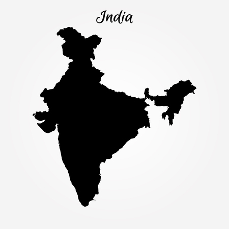 Map of India. Vector illustration. World map