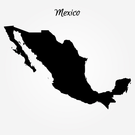 Map of Mexico. Vector illustration. World map