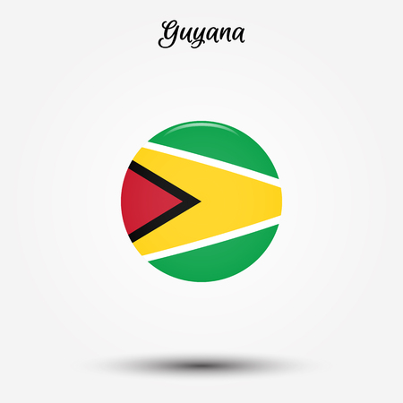 Flag of Guyana icon. Vector illustration. World flag