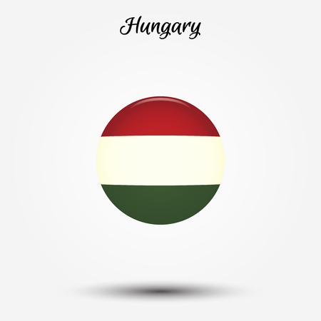 Flag of Hungary icon. Vector illustration. World flag