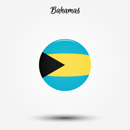 Flag of Bahamas icon. Vector illustration. World flag Illustration