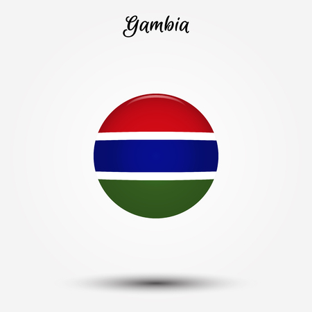 Flag of Gambia icon. Vector illustration. World flag
