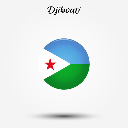 Flag of Djibouti icon. Vector illustration. World flag