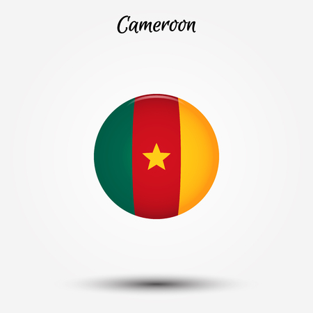 Flag of Cameroon icon. Vector illustration. World flag Vettoriali
