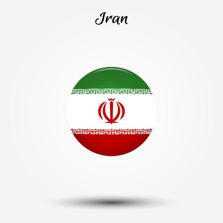 Flag of Iran icon. Vector illustration. World flag