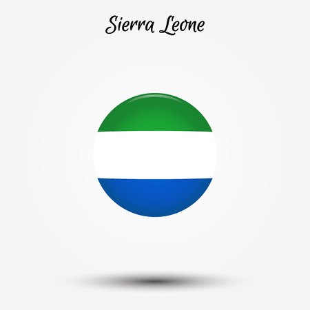 Flag of Sierra Leone icon. Vector illustration. World flag