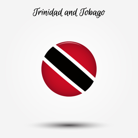 Flag of Trinidad and Tobago icon. Vector illustration. World flag
