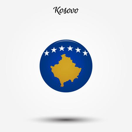 Flag of Kosovo icon. Vector illustration. World flag