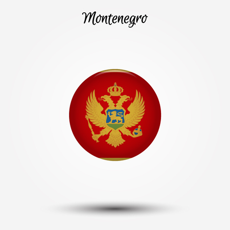 Flag of Montenegro icon. Vector illustration. World flag
