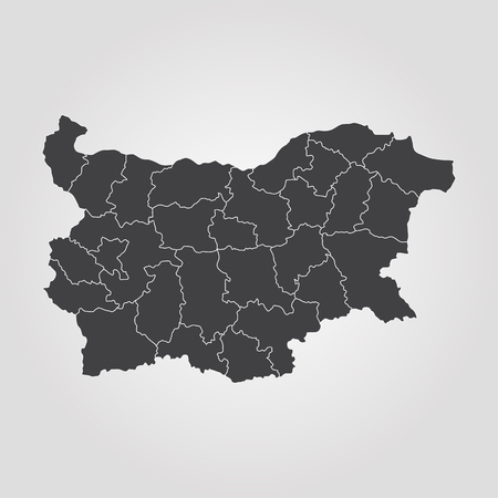 Map of Bulgaria. Vector illustration. World map