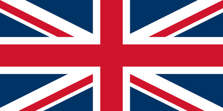 Flag of United Kingdom. Vector illustration. World flag