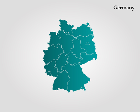 Map of Germany. Vector illustration. World map