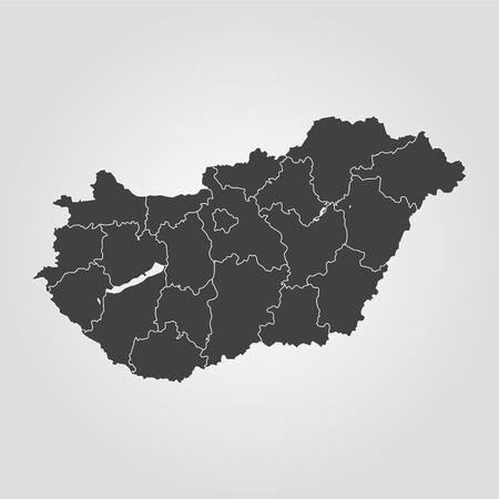 Map of Hungary. Vector illustration. World map 일러스트