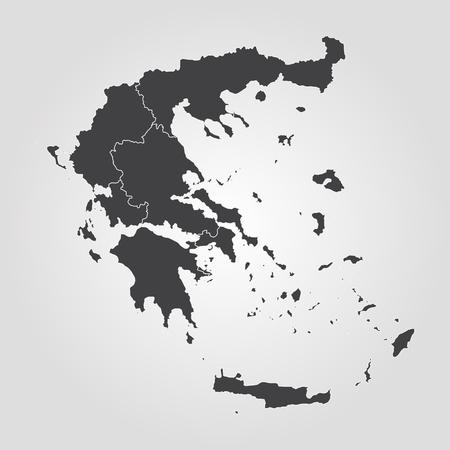Map of Greece. Vector illustration. World map
