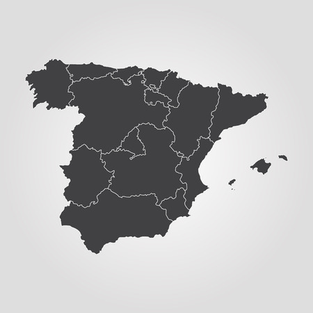Map of Spain. Vector illustration. World map