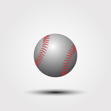 Baseball ball on a white background. Vector illustration. Stock Illustratie