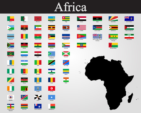 All flags of Africa. Vector illustration 写真素材 - 110859964