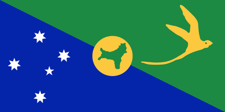 Flag of Christmas Island. Vector illustration