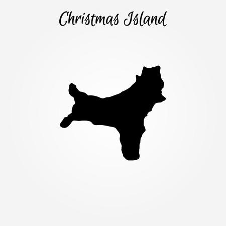 Map of Christmas Island. Vector illustration