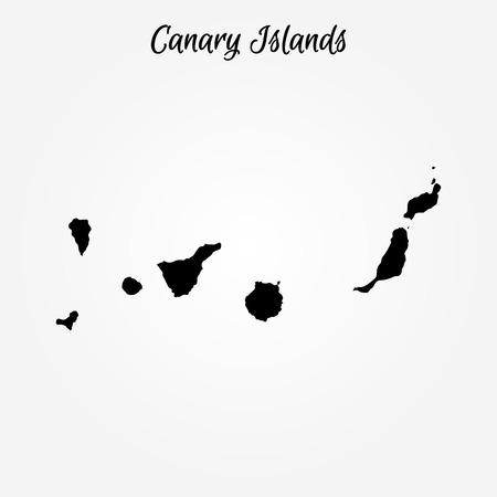 Mapa Wysp Kanaryjskich. Ilustracja wektorowa