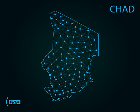 Map of Chad. Vector illustration