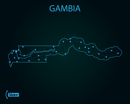 Map of Gambia. Vector illustration