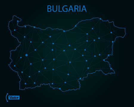Map of Bulgaria. Vector illustration