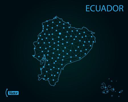 Map of Ecuador. Vector illustration Vector Illustration