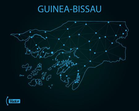 Map of Guinea-Bissau. Vector illustration