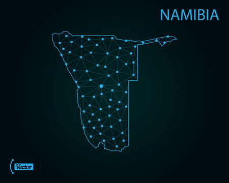 Map of Namibia. Vector illustration Illustration
