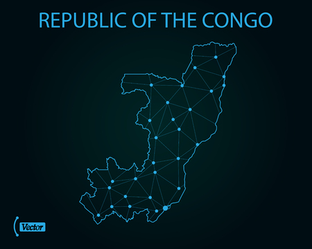 Map of Republic of the Congo. Vector illustration