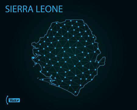 Map of Sierra Leone. Vector illustration