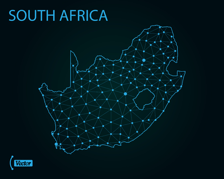 Map of South Africa. Vector illustration Illustration